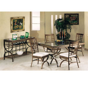 5-Pc Egyptian Glass Top Dining Set 8630/31 (A)