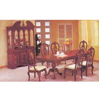 7-Piece Huntington Cherry/Gold Accent Dinette Set 8759 (A)