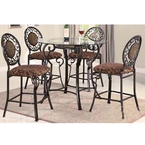 5-Pc Aurora Counter Height Dining Set 8990/91GL/92 (A)
