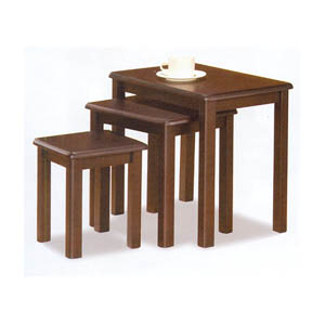 3-Pc Cappuccino Finish Nesting Tables 901069 (CO)
