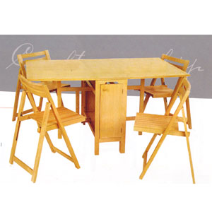 5 Pcs Folding Table And Chairs 901 Lnfs110
