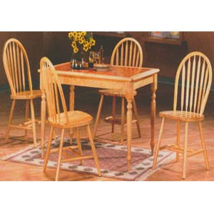 5-Pc Natural and Terra Cotta Dining Set 9230 (WD)