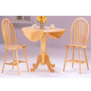 3-Pc All Natural Solid Table Set 9255 (WD)