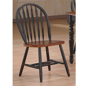 Antique Black/Cherry Arrow Back Chair 9514 (WD)