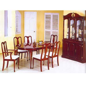 5 Pcs Dining Set In Cherry Finish 979 (WD)