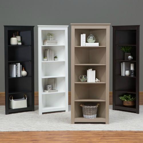 Finley Home Redford Corner Bookcase, Corner Bookcase Furniture