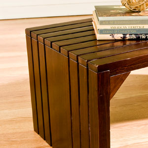 Espresso Slat Bench/Coffee Table BC9229 (SEIFS)