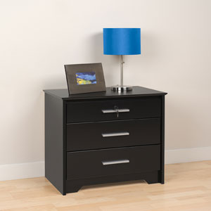 3 Drawer Tall & Wide Nightstand with Lock 2427(PPFS)