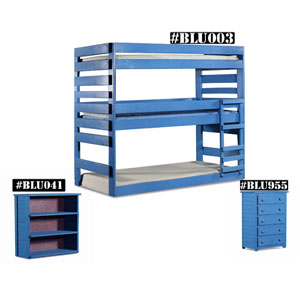 Solid Wood Twin Stackable Triple Bunk Bed 4003(PC)