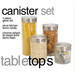 4-Piece Canister Set CS10239(HDS)