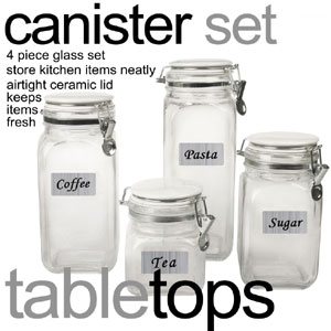 4-Piece Glass Canister Set CS10326(HDS)