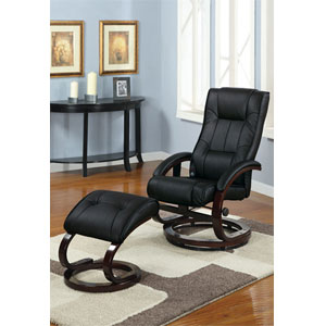 2-Pc Faux Leather Massage Recliner Set F7075_(PX)