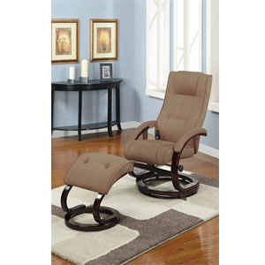 2-Pc Microfiber Plush Massage Recliner Set F7078 (PX)