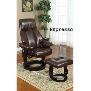 2-Pc Bonded Leather Shiatsu Massage Recliner Set F7087_(PX)