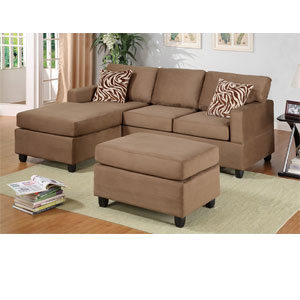 3-Pc Sectional Sofa - Saddle F7662 (PX)