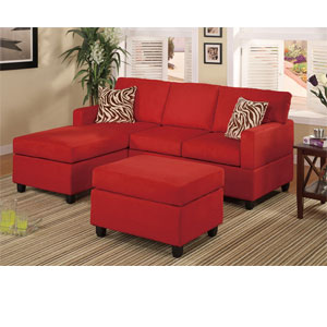 3-Pc Sectional Sofa - Red F7668 (PX)