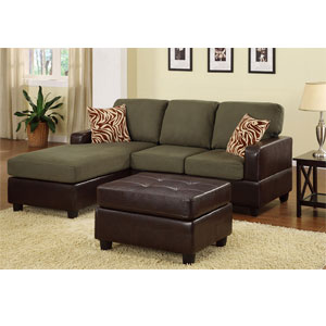 3-Pc Sectional Sofa - Sage F7670 (PX)