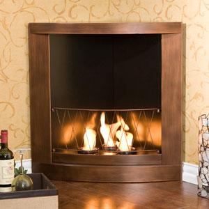 Copper Corner Gel Fuel Fireplace Fa5835 Seifs More Than A