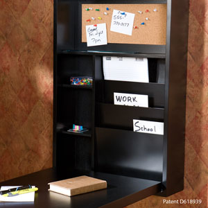Black Fold Out Convertible Desk HO9291 (SEIFS)