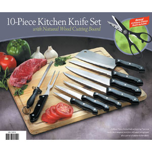 10 Piece Knife Set With Cutting Board KS10010(HDS)