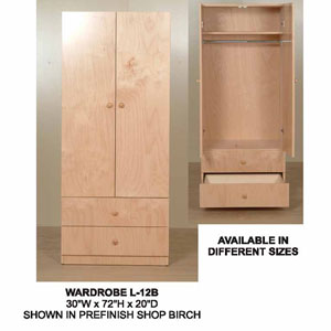 2-Door 2-Drawer Wardrobe  L-12B(CT)