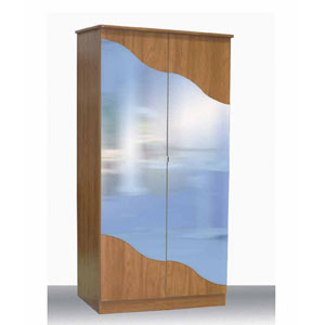 2-Door Wardrobe With Mirror L-14(CT)