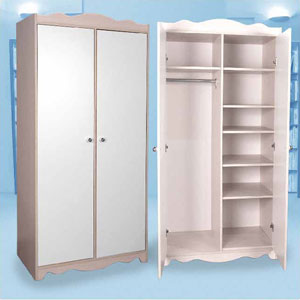2-Door Wardrobe With Divider L-15(CT)