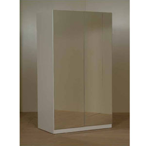 2-Door Full Mirrored Wardrobe L-4(CT)