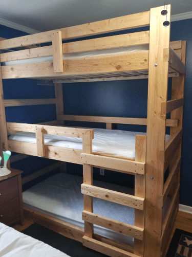 The Brute Solid Wood Custom Made Adult Triple Bunk Bed (USM)
