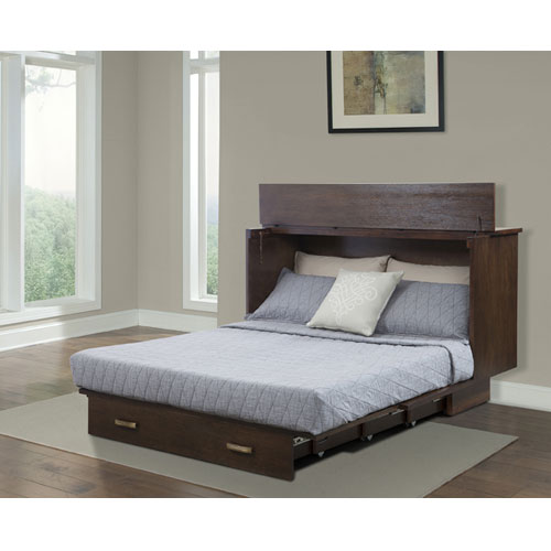 Traditional Pekoe Queen Size Flip Top Cabinet ZZZ Bed 503-15-A(FUFS)