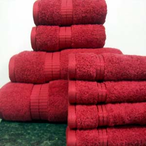 8PC. Set Red Egyptian Cotton Towels ed8pc (RPT)