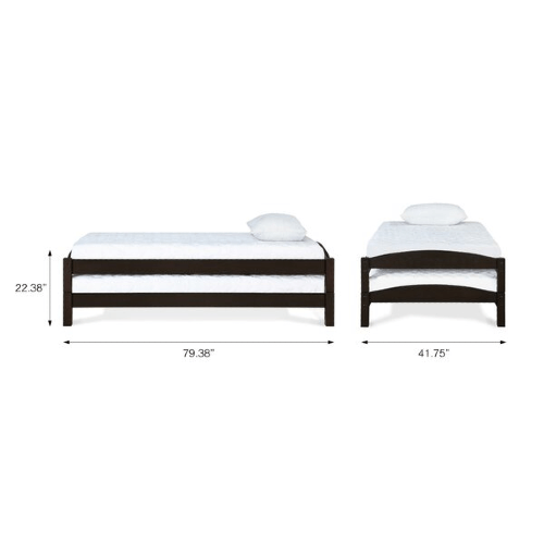 2 Pack Stackable Twin Platform Bed (Weight Capacity 250 Lbs)