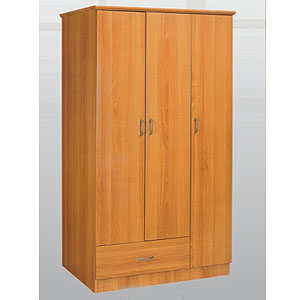 3 Door 1 Drawer Wardrobe WD-3107 (SY)