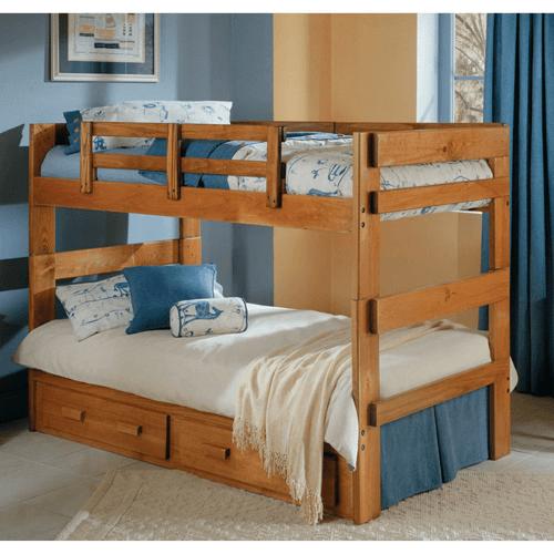 Solid Wood Heartland Twin Twin Bunk Bed Including Slats