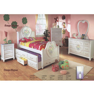 Angelique Twin Size Solid Wood  Girls Bedroom 990_(ML)