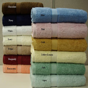 2 Pcs-Egyptian Cotton Bath Sheet 35x70 in. ch90180(RPTFS9)
