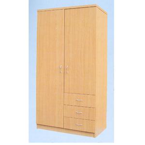 2 Door Wardrobe W 3 Drawers F5019 Tmcf