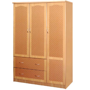 3-Door and 2 Drawer Wardrobe HIF41(HO)