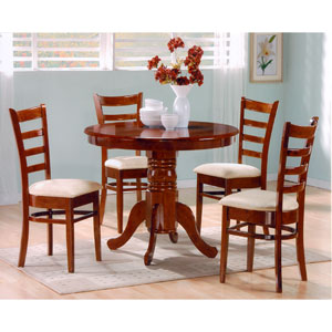 5 Pcs. Dark Oak Finish Dinette Set Levna(P150)(Free Shipping