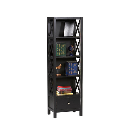 Anna Collection Tall Narrow 5 Shelf Bookcase 86102C124-AB-KD