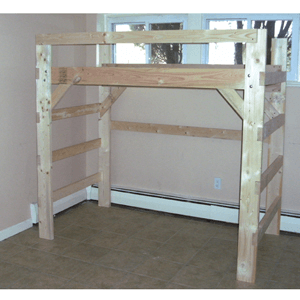 Heavy Duty Solid Wood Bunk Bed 1000 Lbs Wt. Capacity