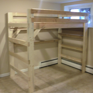 The Manhattan Solid Wood Adult Loft Bed 1000 Lbs Wt. Capacity