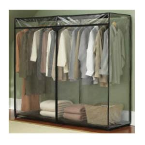 60 Inch Portable Storage Closet with Shoe Rack - More Than A ... 0897328d2