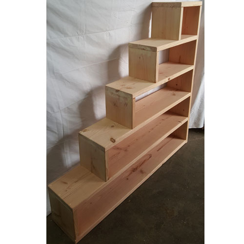 Solid Wood Custom Made Stairs For Bunk Or Loft Bed (300 Lbs Weight  Capacity) (USMFS)