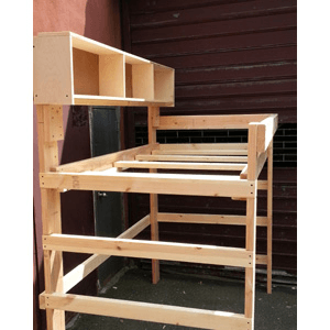Solid Wood Adult Loft Bed 1000 Lbs Wt. Capacity