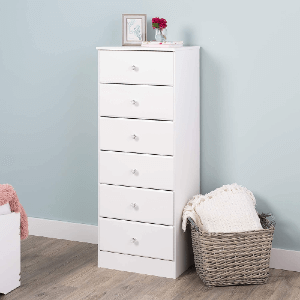 Prepac Astrid 6-Drawer Chest of Drawers (Multiple Colors)