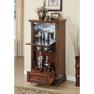 Wine Cabinet in Brown 100163(CO)