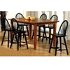 7-Pc Black and Brown Dining Set 100311/12 (CO)