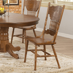 Set of 2 Country Dining Chair Oak 104262(AZFS)