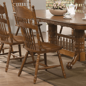 Set of 2 Country Dining Chair Oak 104272(AZFS)